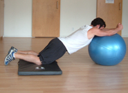 stability ball rollout