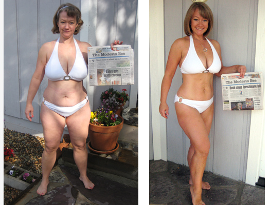 Women Weight Loss Before and After