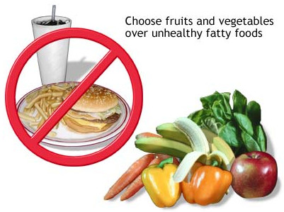 replace unhealthy food for healthy food