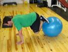 Stability Ball Jackknife Bodyweight Exercise