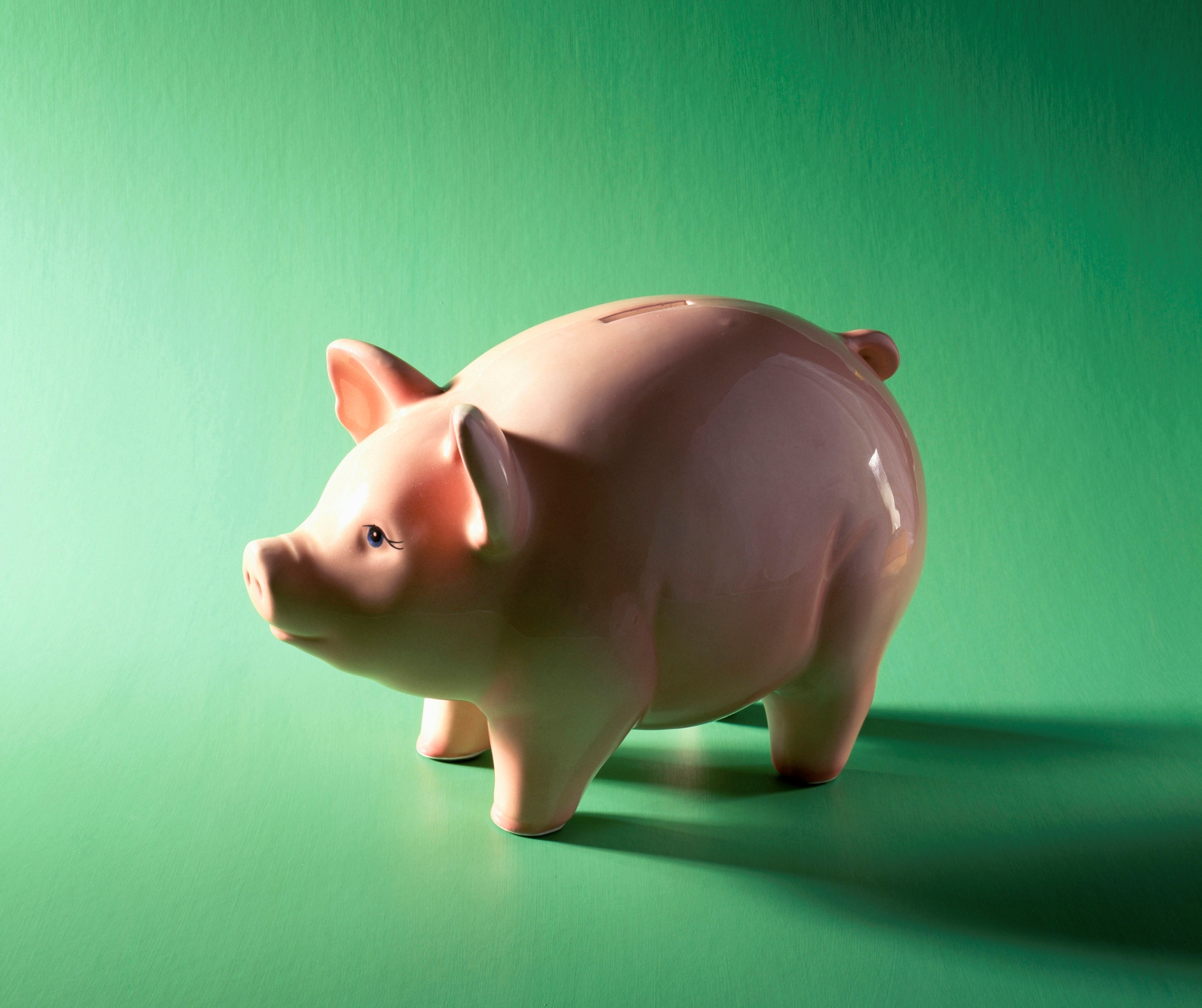 Close-up of a piggy bank