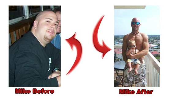 mike before and after