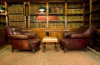 Vintage reading room