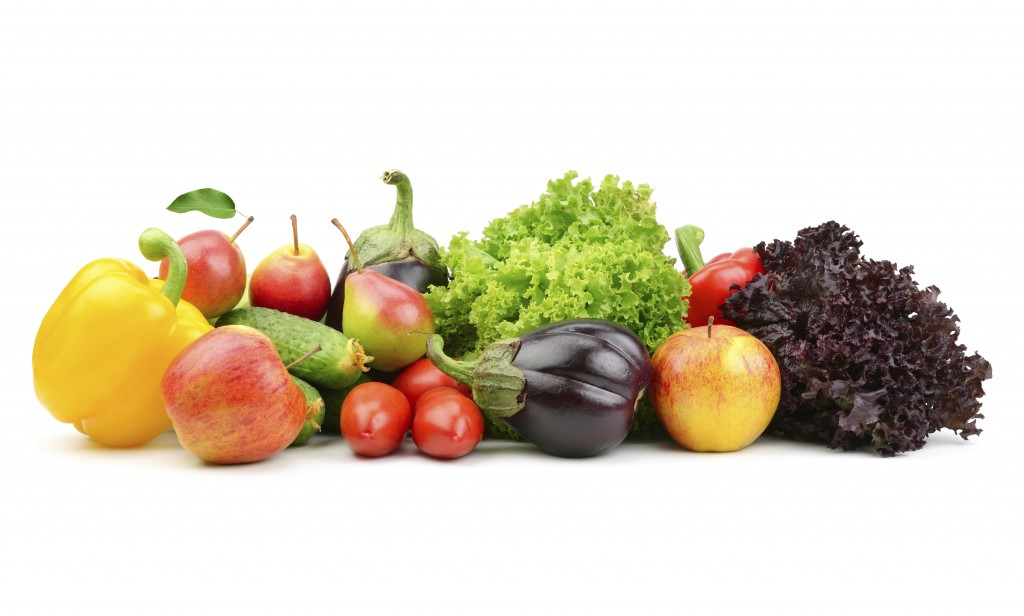 collection fruits and vegetables
