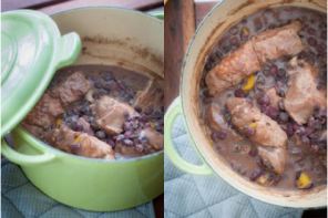 Pork Ribs and Black Beans Country Stew