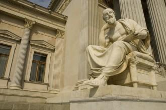 Statue of sitting philosopher