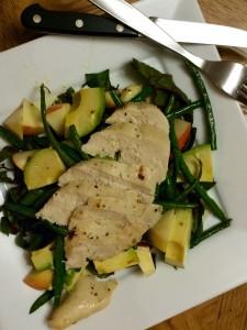 Lemon Kale Salad with Apple